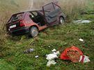 Při vážné nehodě dvou osobních aut u Bezměrova na Kroměřížsku se zranilo pět lidí.