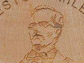 Portrét Karla Jaromíra Erbena na turistické známce č. 1138.