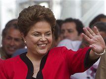 Kandidátky na brazilskou prezidentku Dilma Rouseffová