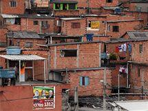 Slum v brazilském Sao Paulu