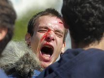 Protesty během generální stávky ve Španělsku (29. září 2010)