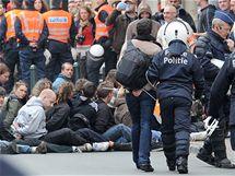 Protesty proti úsporným opatřením v Bruselu (29. září 2010)