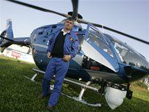 Policejní vrtulník kontroloval dodržování dopravních předpisů na obchvatu Uherského Hradiště.