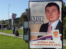 Volební plakát ČSSD v centru Zlína