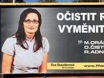 Volební plakát M.O.R v centru Zlína