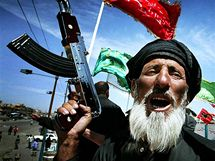Irák, Bagdád, velitel bojovníků  ze Sadr City