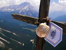 Col Rosa (2166 m) – vrcholový kříž
