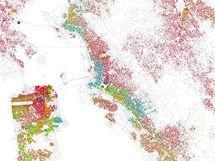 Rasová mapa San Francisca.