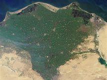 Delta Nilu (moderní snímek)