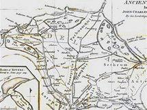 Delta Nilu (Renellova rekonstrukce starověké podoby)