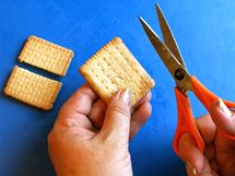 Sušenky v páře obracejte, aby zvláčněly, a postupně je skládejte do formy. Podle potřeby je můžete zkrátit nožem nebo nůžkami