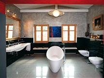 Velká koupelna je inspirována italským designem