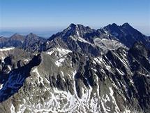 Výstup na Gerlachovský štít. Výhledové panorama směrem k východu
