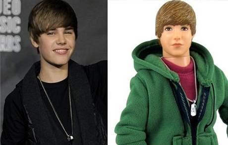 Justin Bieber a jeho plastový dvojník