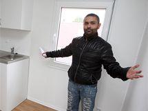 Pavel BiharyJuraj v novém bytě Romů v Holešově.