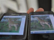 Displej Galaxy S a iPhonu 4: pozorovací úhly