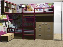 Dětský pokoj pro mladou slečnu a její dvouletou sestřičku
