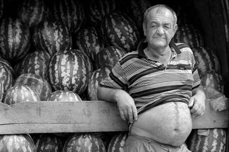 Amatérská fotografie Plzeň 2010, kategorie portrét, Jitka Rjašková, Prodavač melounů, 2. cena