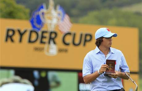 Ryder Cupu 2010 - nováček amerického týmu Rickie Fowler.