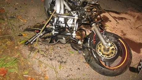 Tragická nehoda motorkáře v Pecce na Jičínsku