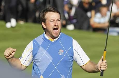 Graeme McDowell rozhodl o tom, že Evropa se stala vítězem Ryder Cupu