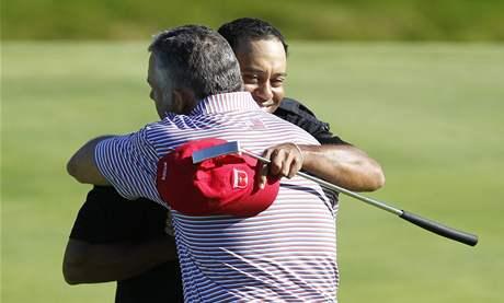 Tiger Woods v pondělí zářil jako za starých časů.