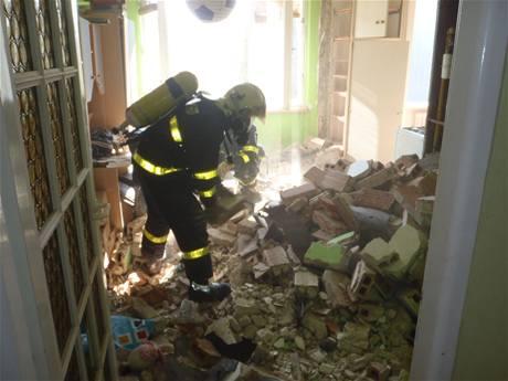 Panelový dům po výbuchu plynu