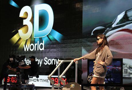 CEATEC 2010 - stánek Sony den před otevřením