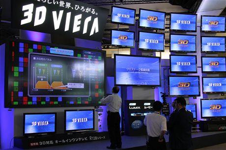 CEATEC 2010 - stánek Panasonicu den před otevřením