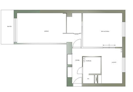Definitivní dispozice: zazděné dveře mezi ložnicí a obývákem, vestavěná šatna, posuvné dveře do dveřních pouzder (š. 120 cm)