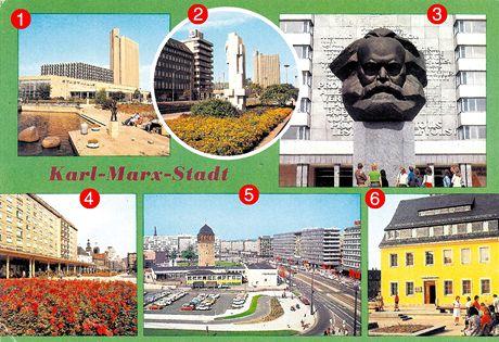 Německo, Karl-Marx-Stadt, dnes Chemnitz. 70. léta
