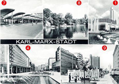 Německo, Karl-Marx-Stadt. dnes Chemnitz. 60.léta