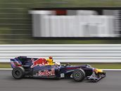 Vettel s vozem Red Bull na dráze v Suzuce