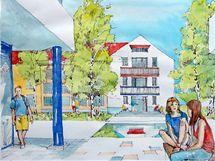 """Studie """"školského areálu"""", který má vzniknout v části bývalých kasáren Klimentov"""