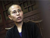 Liou Sia, manželka čínského disidenta Liou Siao-pa (28. září 2010)