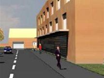 Vizualizace národního tréninkového centra hasičů - obytné domy