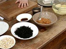 Suroviny potřebné na polévku misoširu