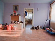 Přes dětský pokoji se chodilo do ložnice