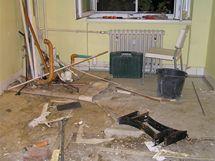 Tak vypadala kuchyně po demontáži jádra a následném vyklízení suti a odpadu