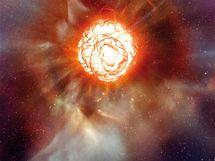 Desátá nejjasnější hvězda na obloze, Betelgeuse v souhvězdí Orion.