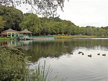 Německo, Chemnitz, dříve Karl-Marx-Stadt. Zámecký rybník se takřka nezměnil.