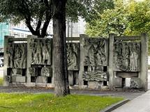 Německo, Chemnitz, dříve Karl-Marx-Stadt. Památník v někdejší Marxově aleji.
