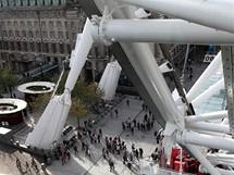 Londýnské oko, pohled z výšky na konstrukci kola