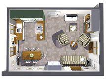 Přestavba kuchyně, jídelny a obývacího pokoje s krbem