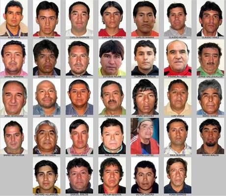 Zavalení chilští havíři