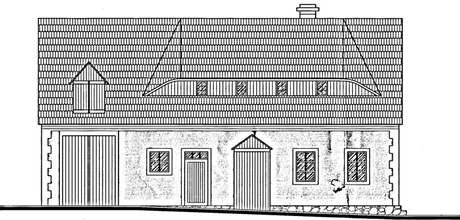 Projekt repliky tradičního lidového domu. Objekt je jednopodlažní s volným půdním prostorem.