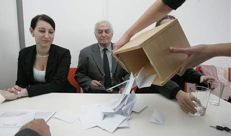 Volba rektora UTB ve Zlíně.