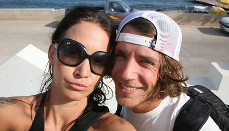 Agáta Hanychová a Jan Brabec na dovolené v Řecku