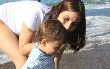 Eva Decastelo na dovolené v Turecku se synem Michalem
