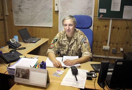 Podplukovník Ctirad Gazda, velitel českých vojáků v afghánském Lógaru.